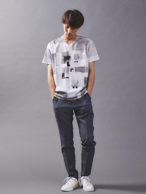 【数量限定】リメイクTシャツ (パッチワーク加工)