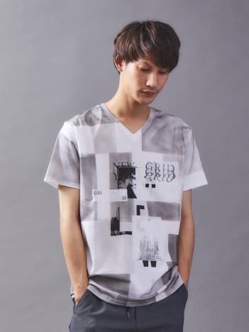 5351POUR LES HOMMES - 【数量限定】リメイクTシャツ (パッチワーク加工)