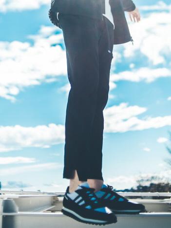 【3Dパターン】ストレッチ テーパード パンツ