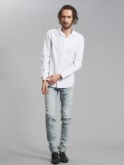 5351POUR LES HOMMES - ストレッチワンピースカラーシャツ