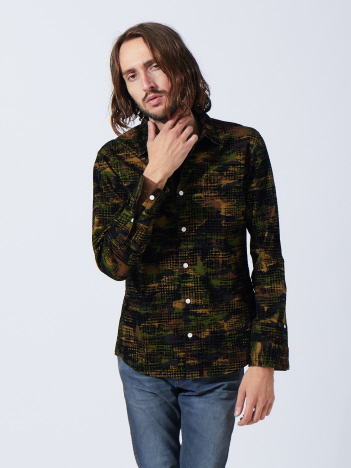 5351POUR LES HOMMES - フロッキーチェックシャツ