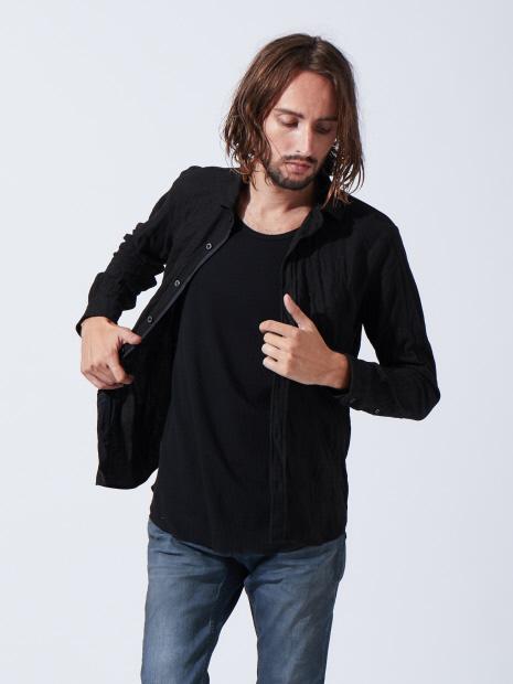 ニットカノコワッシャーシャツ