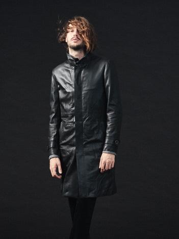 【19AW新作】シープレザースタンドカラーコート