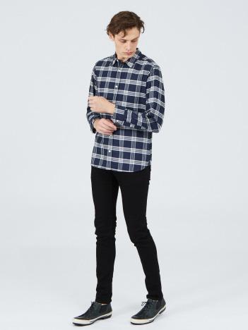 【20SS新作】先染リネンワッシャーチェックシャツ