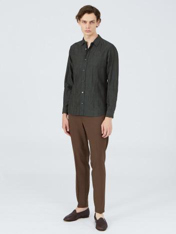 【20SS新作】先染めリネンワッシャーシャツ