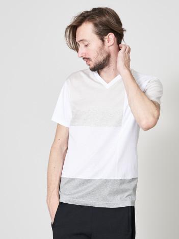 5351POUR LES HOMMES - 【20SS】アリオリティ・マルチブロック 半袖Tシャツ【予約】