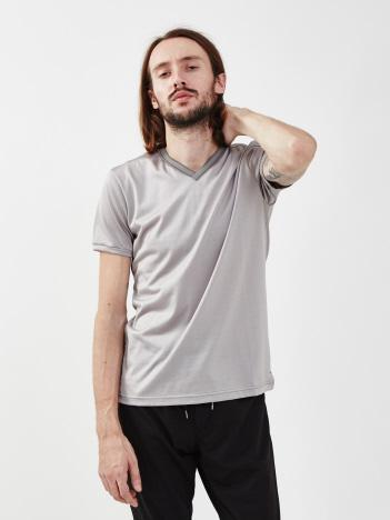 5351POUR LES HOMMES - 【20SS】トリアセリバーニット VネックTシャツ【予約】