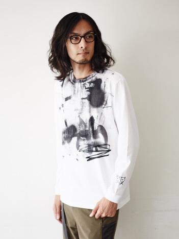 5351POUR LES HOMMES - 【CBA×5351POUR LES HOMMES】ロングTシャツビッグプリント