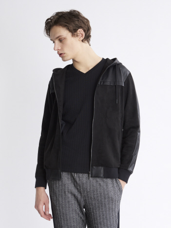 5351POUR LES HOMMES - 【20AW】ハイテンションレザーパーカー