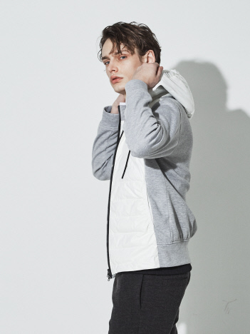 5351POUR LES HOMMES - 【20AW】2WAYコンビネーションパーカー