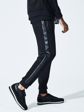 5351POUR LES HOMMES - 【20AW】ハイテンションレザートラックパンツ