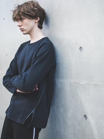 5351POUR LES HOMMES - 裾ジップ プルオーバー ロングTシャツ