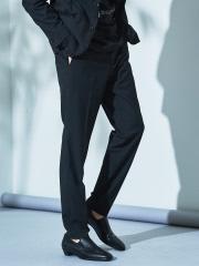 【セットアップ対応】CARREMAN ストレッチ ギャバ スリム テーパード パンツ