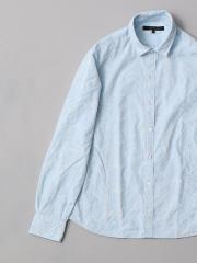 DESIGNWORKS (MEN'S) - 花柄刺繍ブロードシャツ