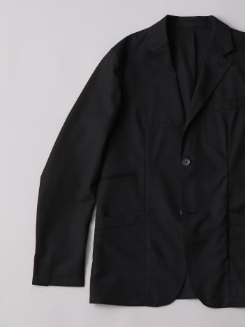 ウールポプリンナチュラルストレッチジャケット