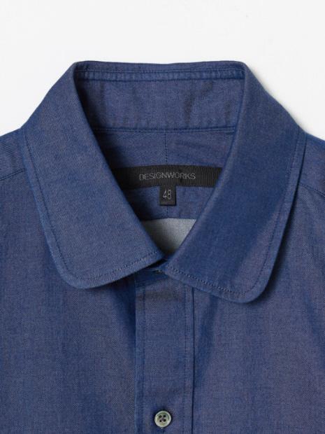 インディゴツイルブリーチシャツ