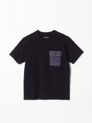 DESIGNWORKS (MEN'S) - デラヴェミラノ布帛ポケットクルーネックTシャツ