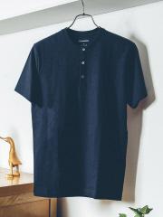DESIGNWORKS (MEN'S) - 甘撚度詰天竺ヘンリーネックTシャツ