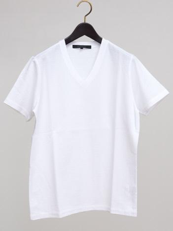 コットンリネンダブルフェイスTシャツ