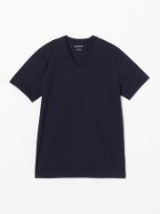 DESIGNWORKS (MEN'S) - 甘撚度詰天竺VネックTシャツ
