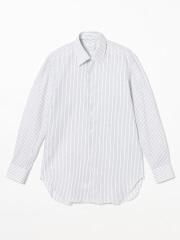 DESIGNWORKS (MEN'S) - 先染めカラミストライプセミワイドシャツ