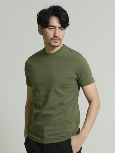 甘撚度詰天竺クルーネックTシャツ