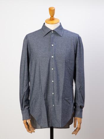 デニムジャージーシャツ