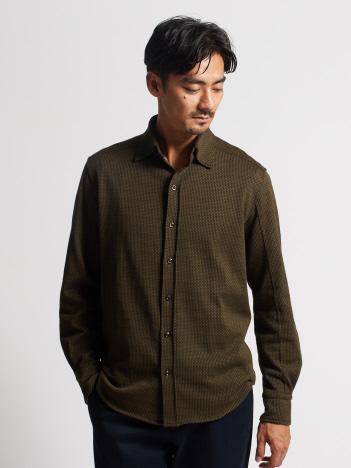 ジャカードチェックシャツ