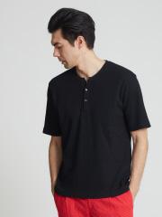 DESIGNWORKS (MEN'S) - ワッフル 半袖ヘンリーTシャツ