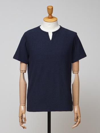 ミニパイル キーネックTシャツ