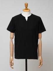 DESIGNWORKS (MEN'S) - ミニパイル キーネックTシャツ