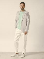 DESIGNWORKS (MEN'S) - コットンヘンリーネックTシャツ
