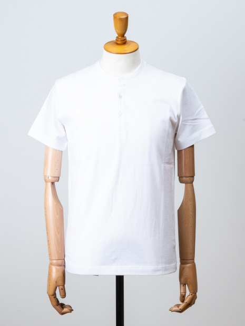 コットンヘンリーネックTシャツ