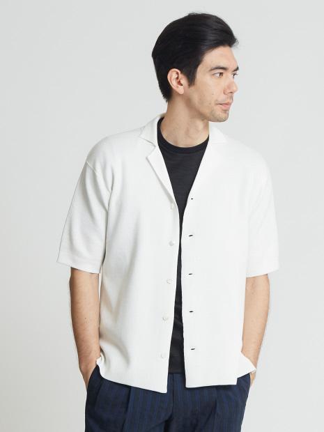 キュプラシルクニットシャツ