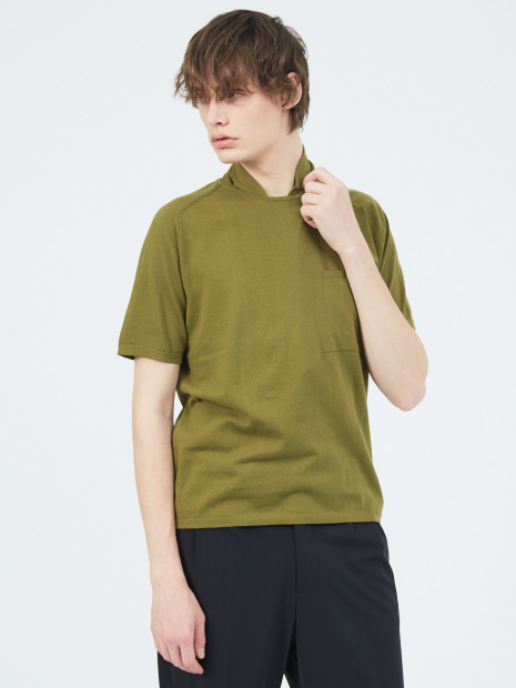 ショートスリーブ ニットTシャツ