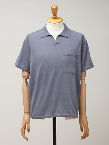 DESIGNWORKS (MEN'S) - ショートスリーブニットポロシャツ