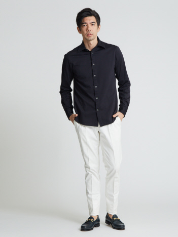 OUTLET (MEN'S) - モクロディストレッチ シャツ