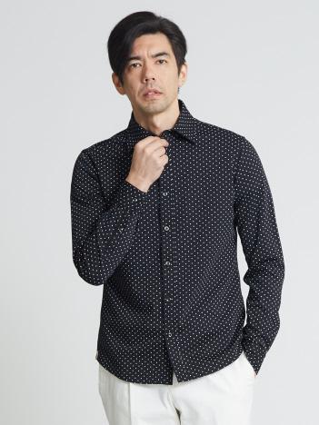 モクロディドットプリントシャツ