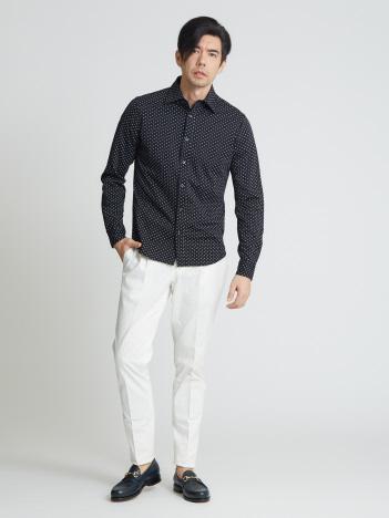 OUTLET (MEN'S) - モクロディドットプリントシャツ