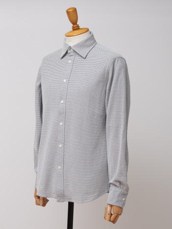 【COOLMAX】ハニカムボーダーシャツ