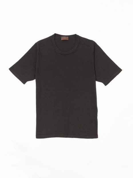 【ALTEA】シルクコットン クルーネックニットTシャツ