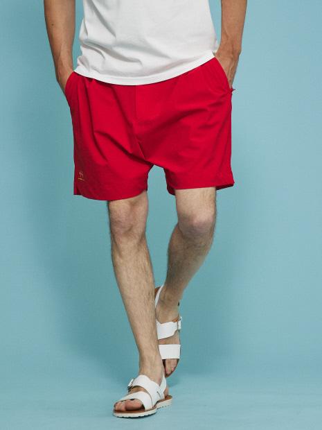 【PT01 / KULT 】ショートパンツ RED/YELLOW