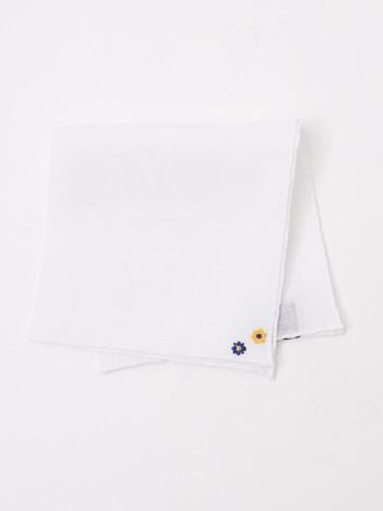 【FRANCO BASSI】 花柄刺繍チーフ