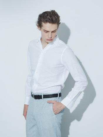 DESIGNWORKS (MEN'S) - フレンチリネン ドビーシャツ