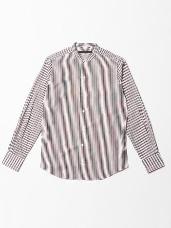 DESIGNWORKS (MEN'S) - 2カラーロンドンストライプ バンドカラーシャツ