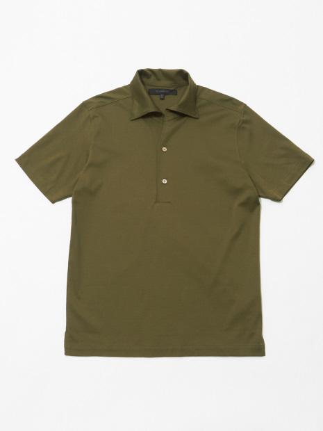 ワンピースカラースムースポロシャツ