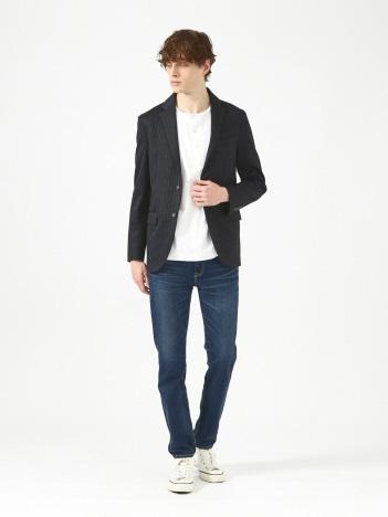 ストレッチジャージストライププリントジャケット