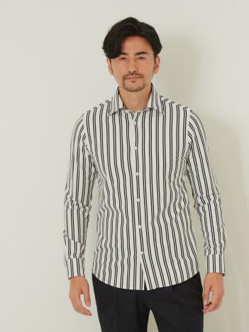 ペルーコットンストライプシャツ