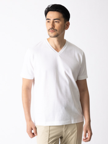 ラミーソロダブルフェイス Tシャツ(白・黒)