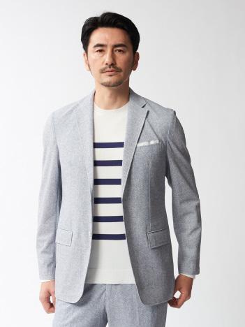 【セットアップ対応】メッシュストレッチプリントジャケット(収納バッグ付)